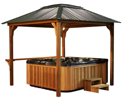 Layabout cedar spa gazebo perth