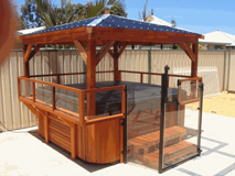 Spa fence gazebo