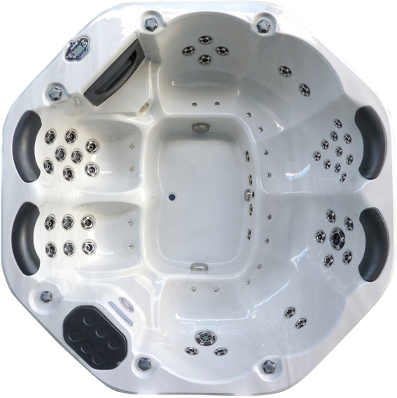 octagonal 8 seater spa