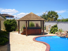 Spa pool gazebo