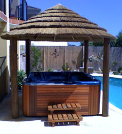 african Thatched gazebo perth