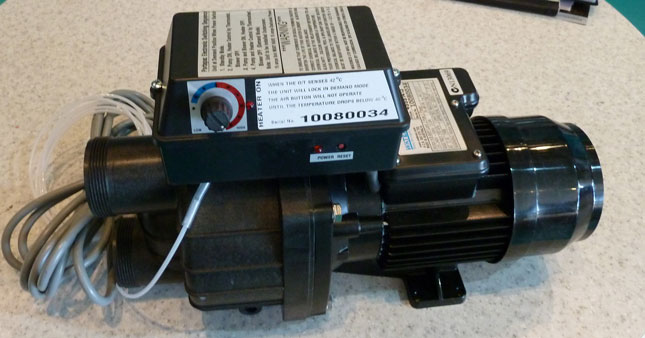 Spa Pump: Waterco Spa Pump Heater on